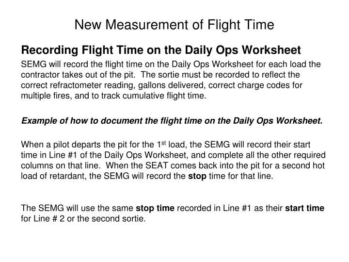 New Measurement of Flight Time
