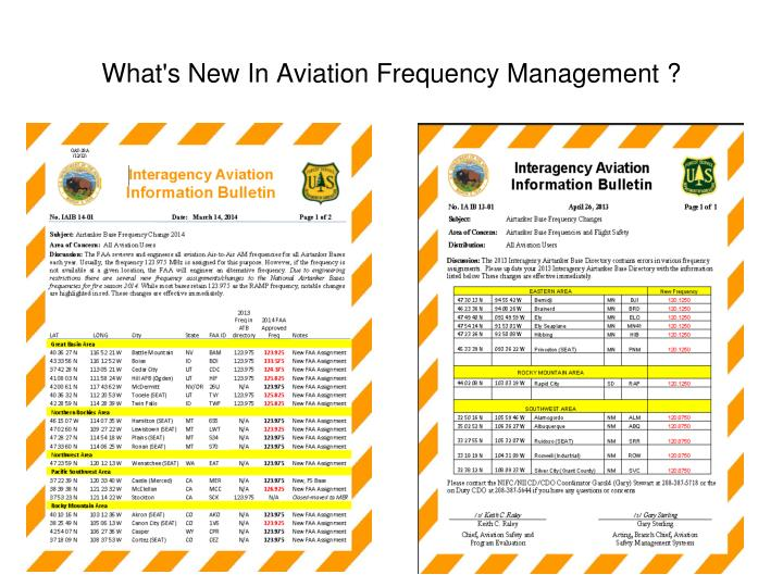 What's New In Aviation Frequency Management ?