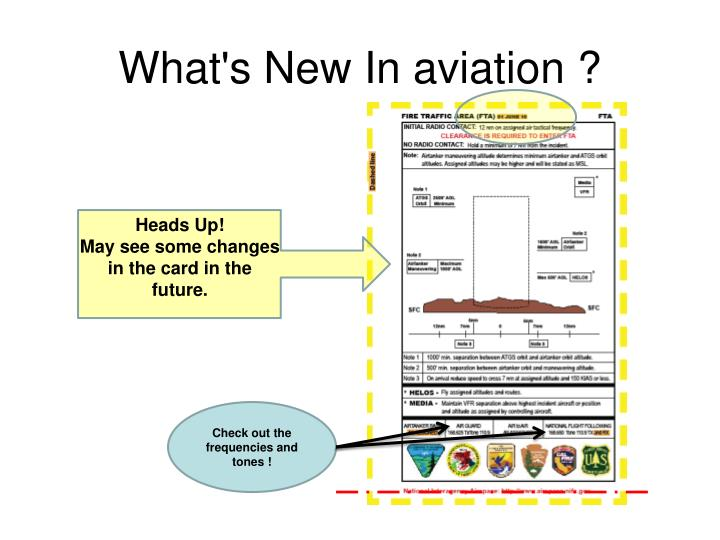 What's New In aviation ?