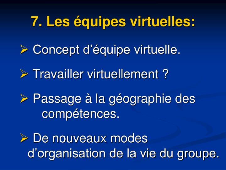 7. Les équipes virtuelles: