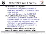 nfmcc mctf joint 5 year plan