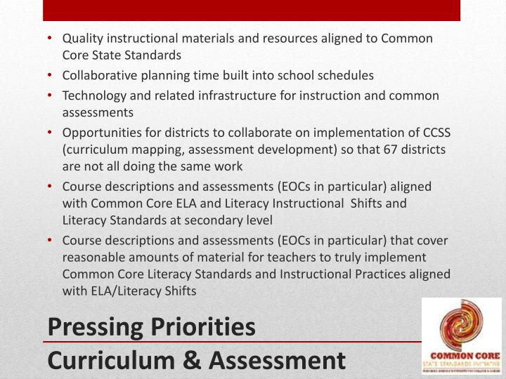 Quality instructional materials and resources aligned to Common Core State Standards