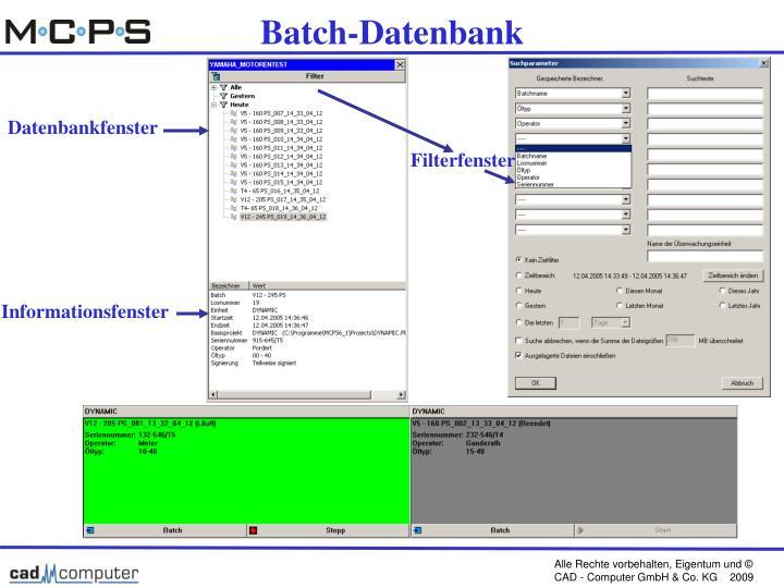 Batch-Datenbank