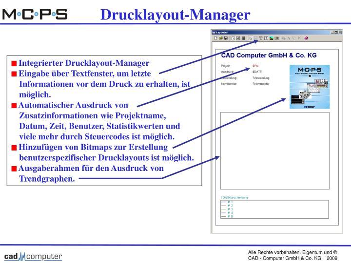 Drucklayout-Manager