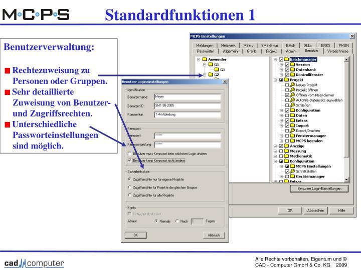 Standardfunktionen 1