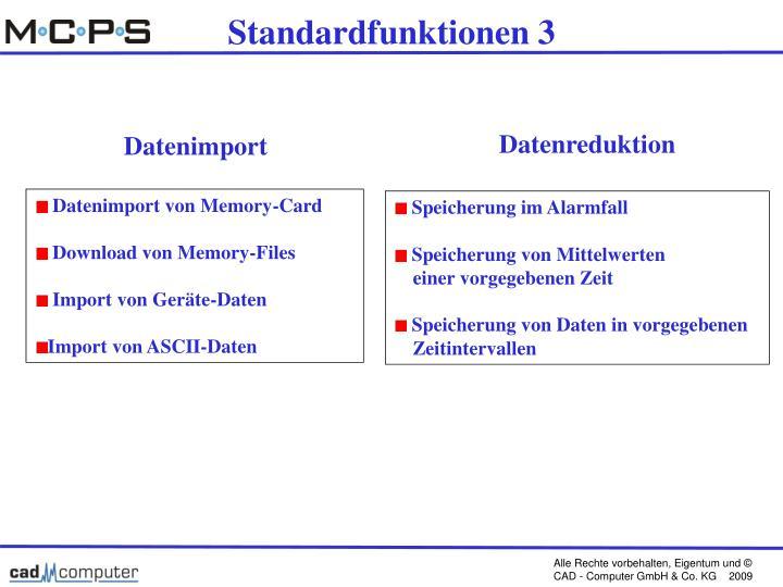 Standardfunktionen 3