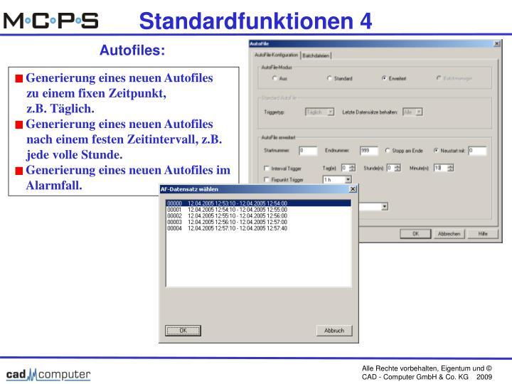 Standardfunktionen 4