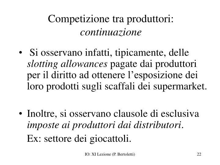 Competizione tra produttori: