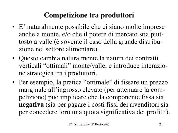 Competizione tra produttori
