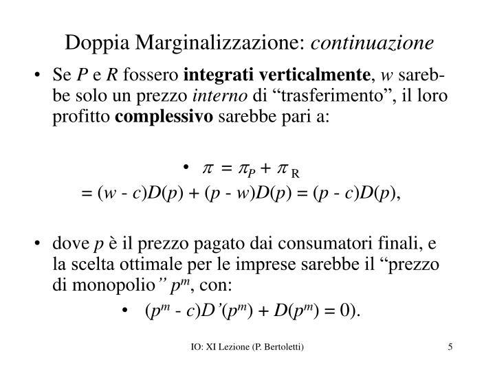 Doppia Marginalizzazione:
