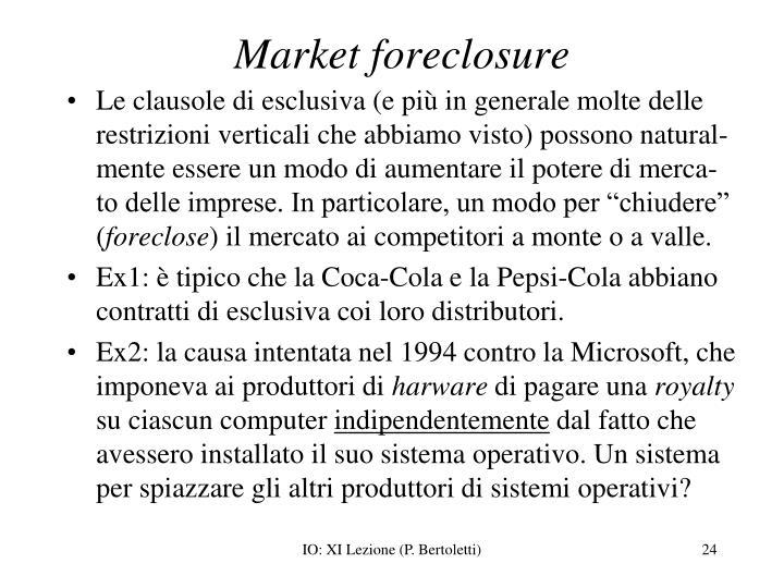 Market foreclosure