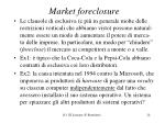 market foreclosure