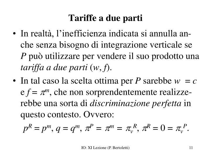 Tariffe a due parti