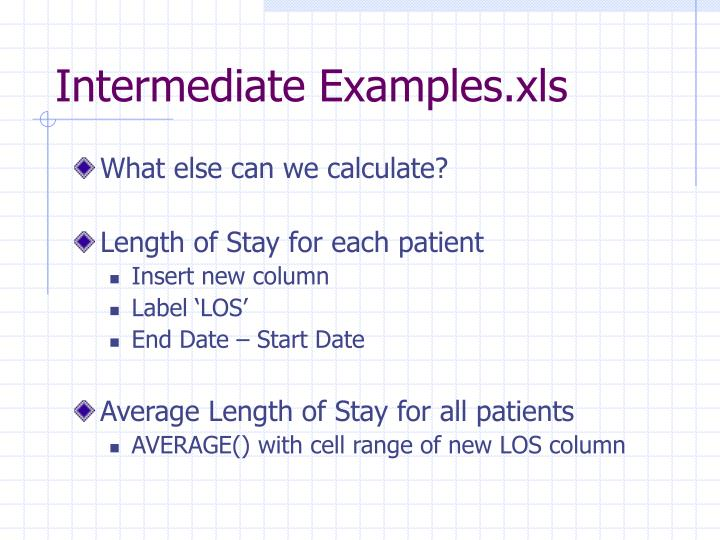 Intermediate Examples.xls