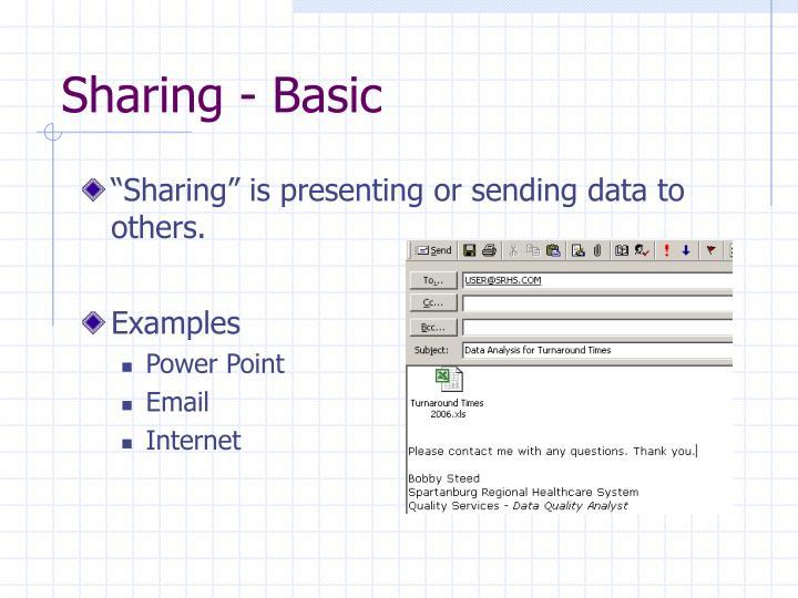 Sharing - Basic