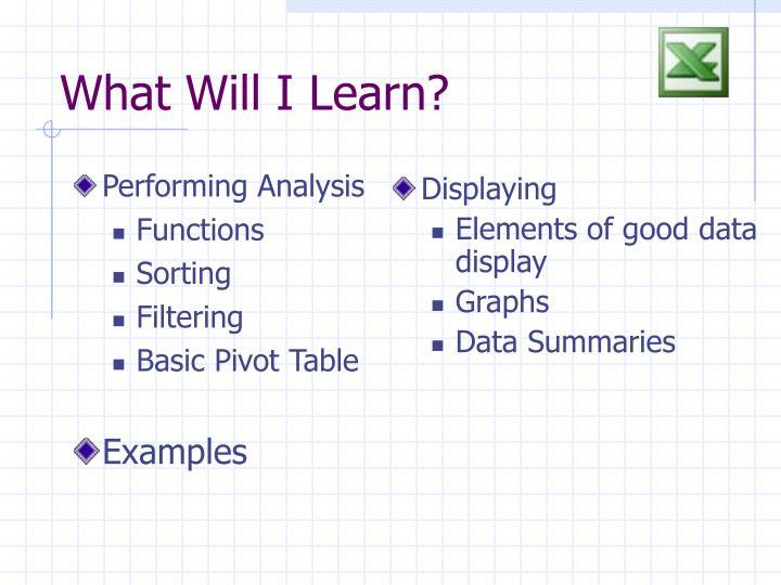 Performing Analysis