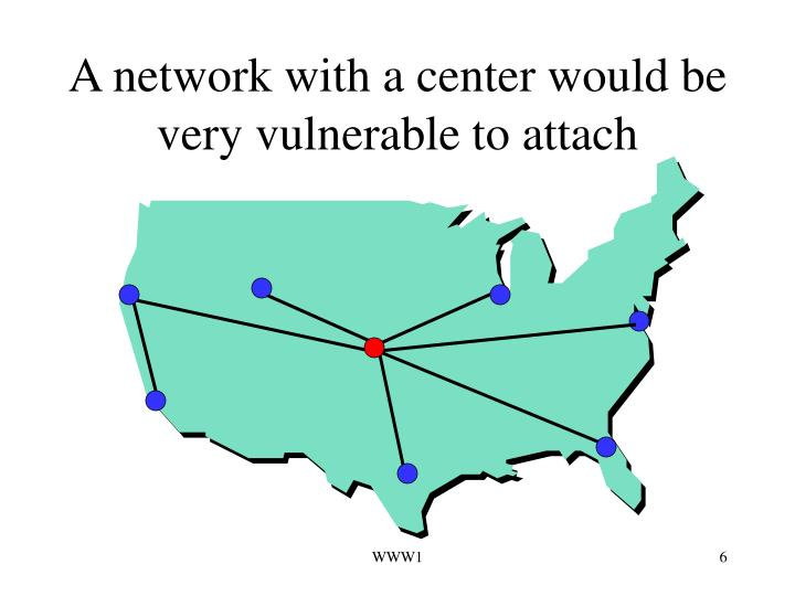 A network with a center would be very vulnerable to attach