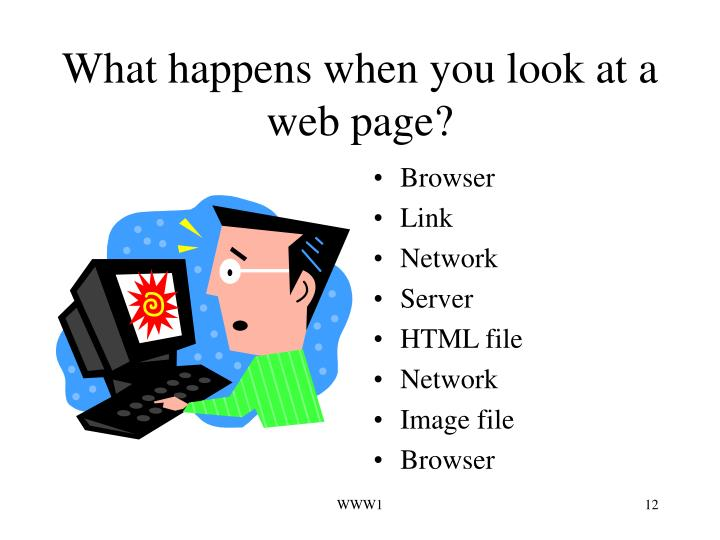 What happens when you look at a web page?