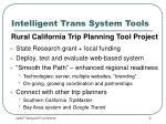 intelligent trans system tools