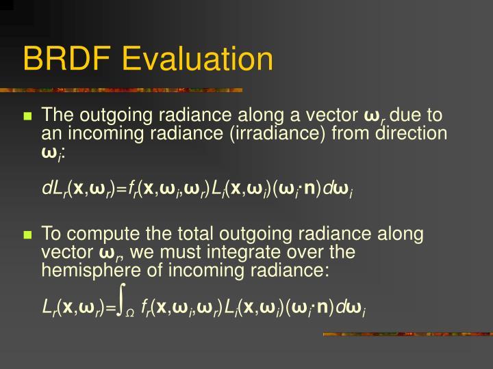 BRDF Evaluation