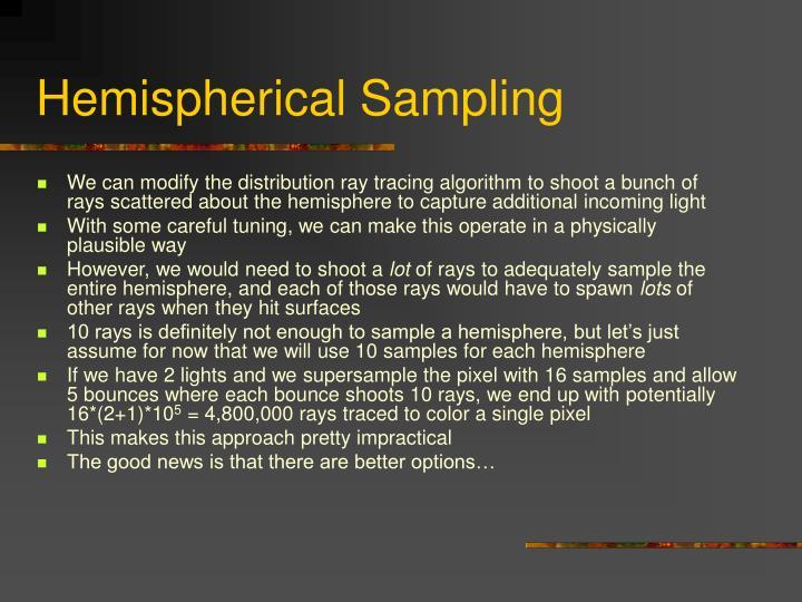 Hemispherical Sampling