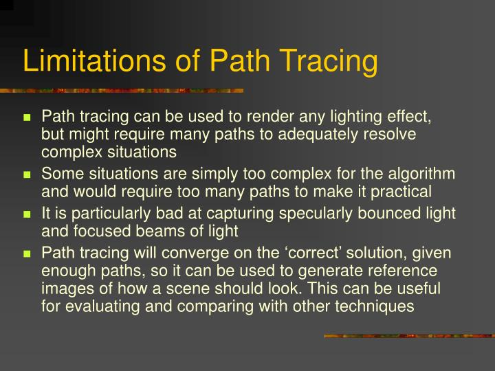Limitations of Path Tracing