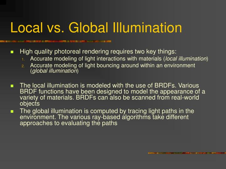 Local vs. Global Illumination