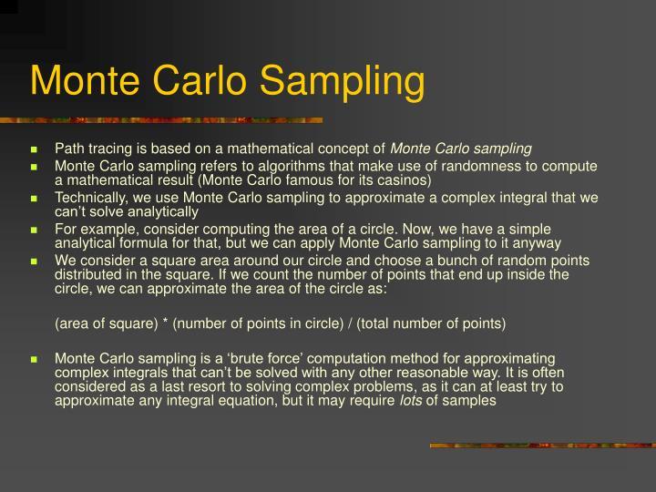 Monte Carlo Sampling