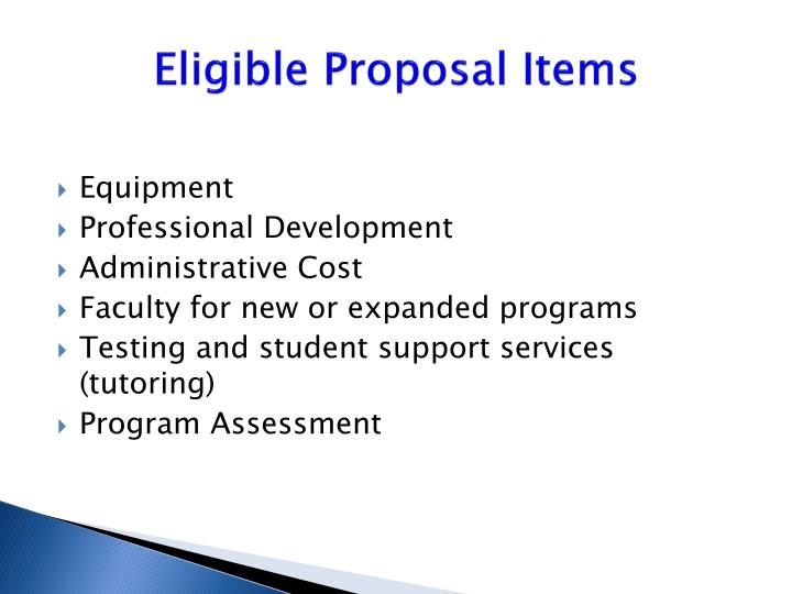 Eligible Proposal Items