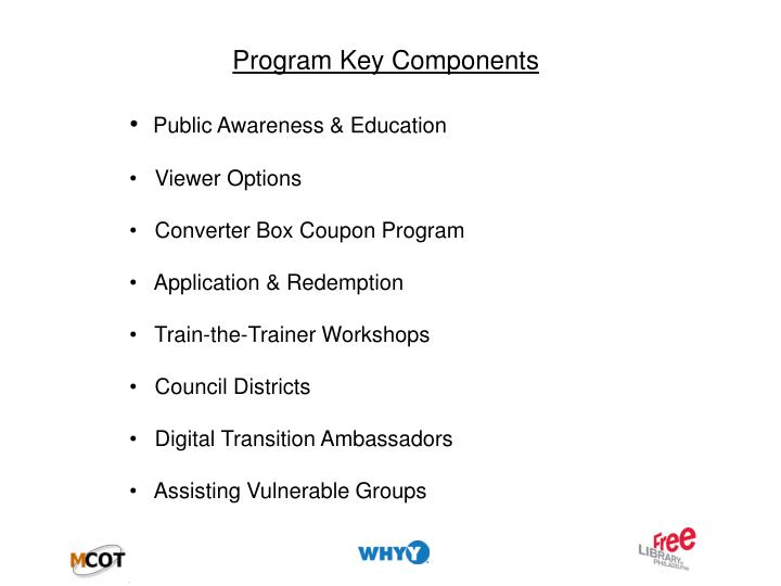 Program Key Components