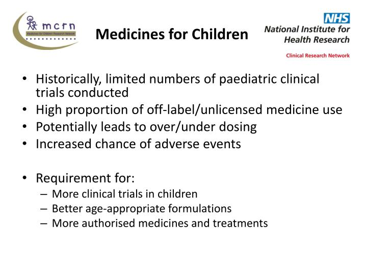 Medicines for children
