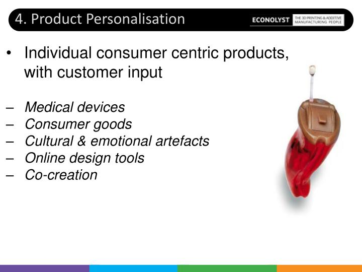 4. Product Personalisation