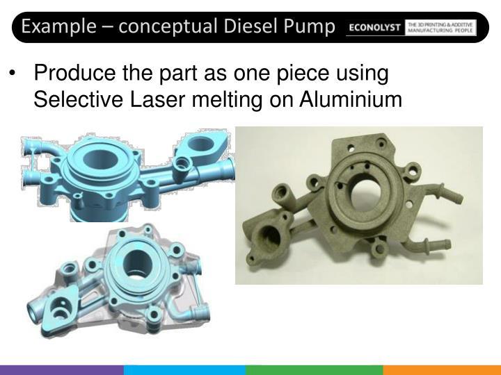 Example – conceptual Diesel Pump
