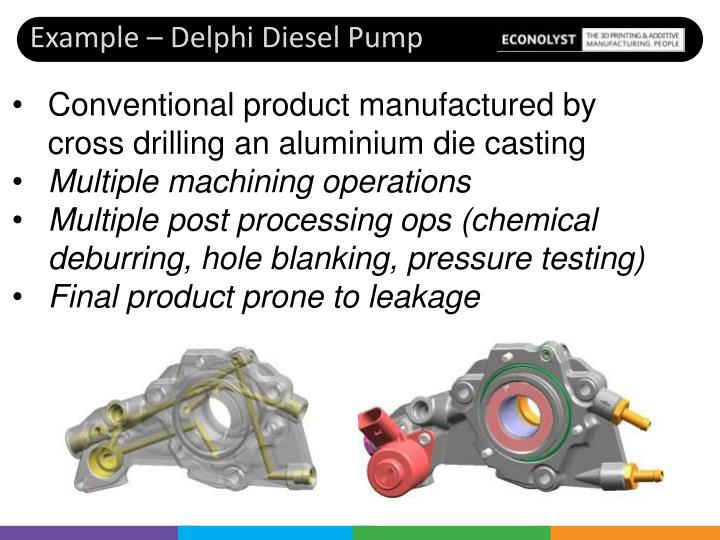 Example – Delphi Diesel Pump
