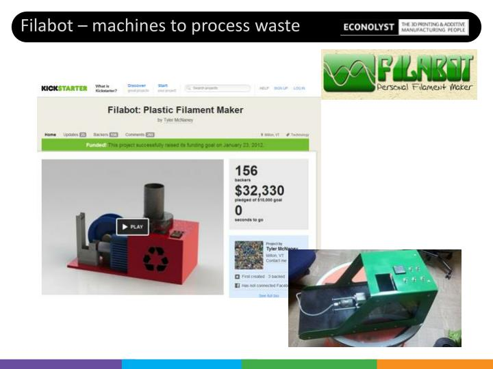 Filabot – machines to process waste