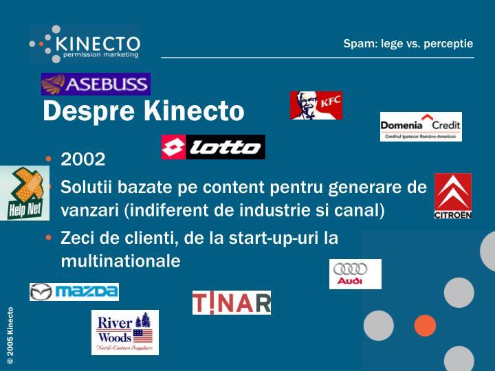 Despre Kinecto