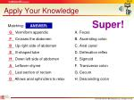 apply your knowledge5