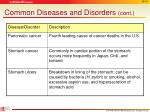 common diseases and disorders cont3