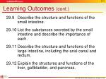 learning outcomes cont1