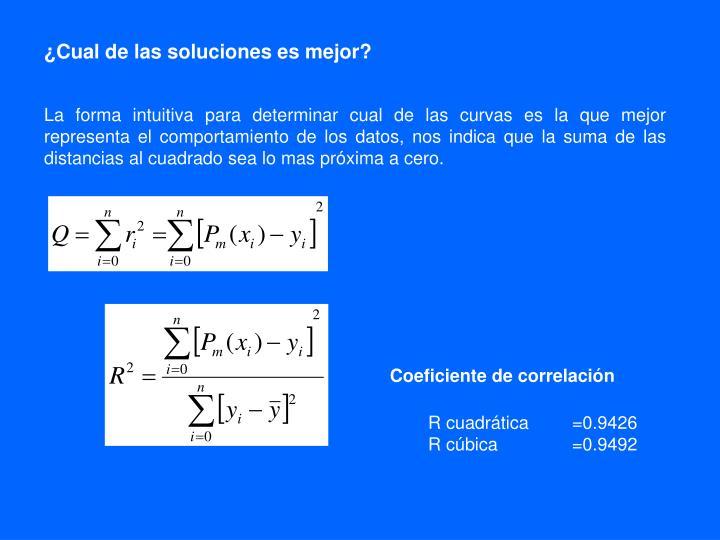 ¿Cual de las soluciones es mejor?