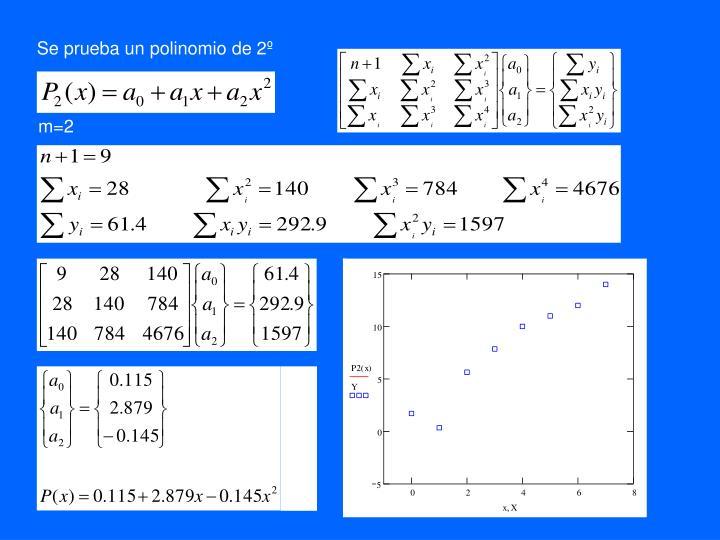 Se prueba un polinomio de 2º