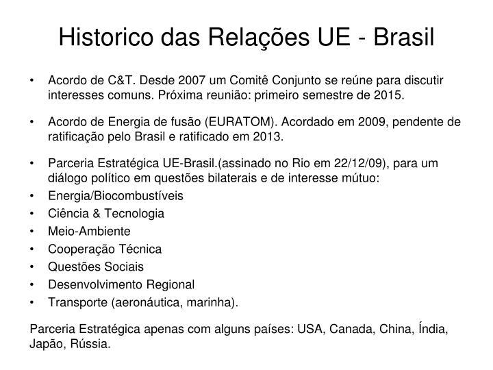 Historico das Relações UE - Brasil