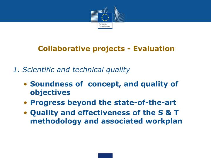 Collaborative projects - Evaluation