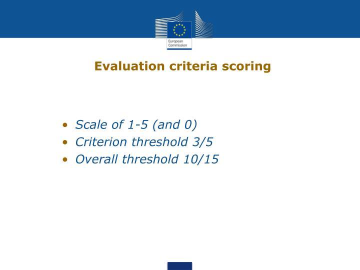Evaluation criteria scoring