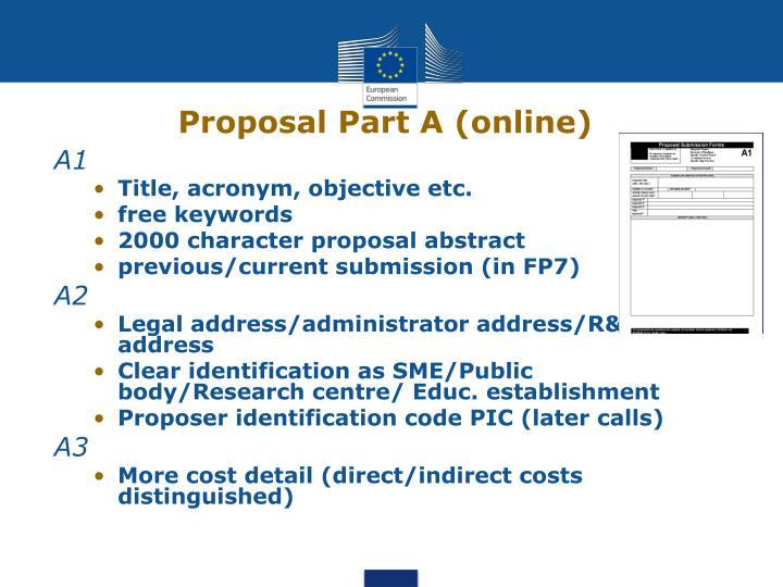Proposal Part A (online)