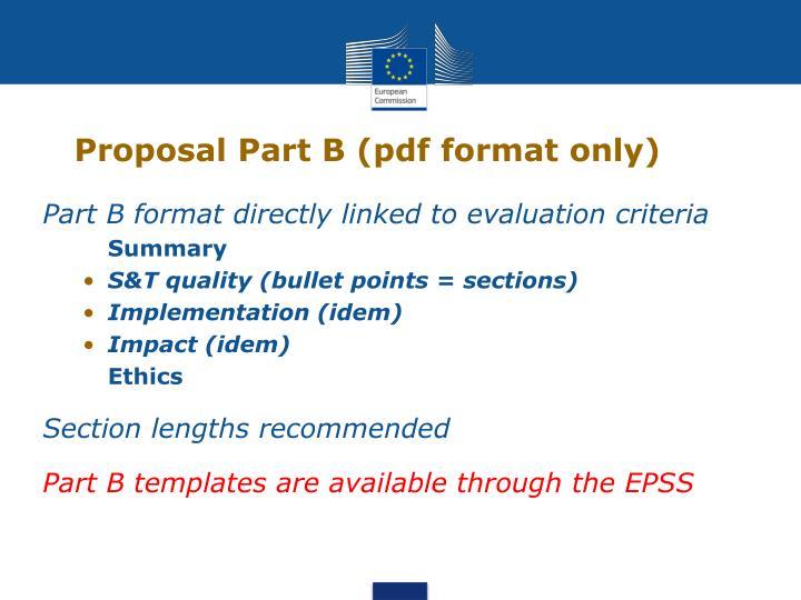 Proposal Part B (pdf format only)