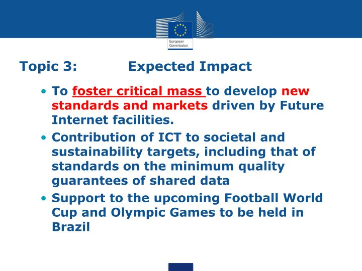 Topic 3: Expected Impact