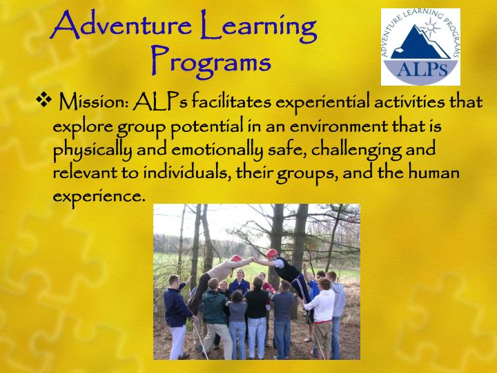 Adventure Learning 					Programs