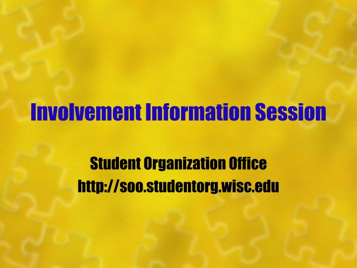 Involvement information session