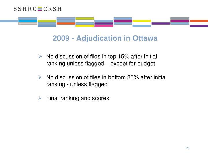 2009 - Adjudication in Ottawa